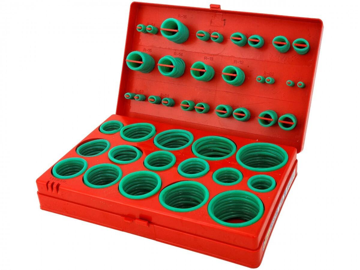 Sada gumových o-kroužků, pro spoje klimatizace, 419 kusů