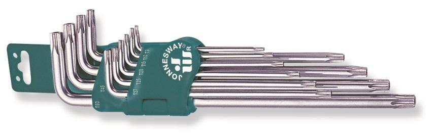 Sada klíčů Torx s otvorem, extra dlouhé, 10 kusů - JONNESWAY H08S110S