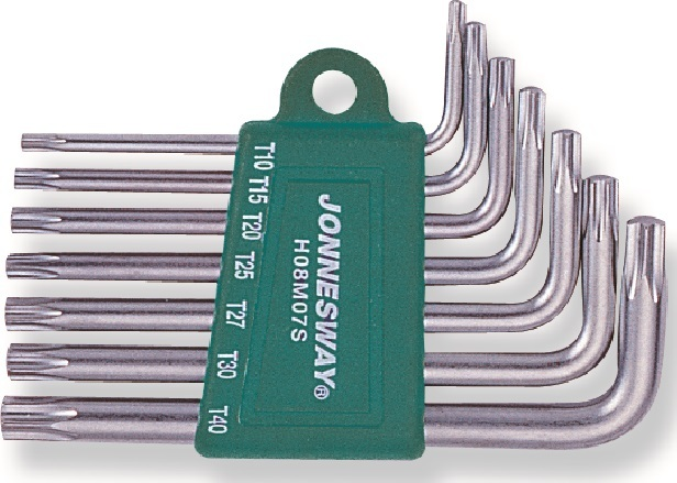 Sada klíčů TORX s otvorem, T10 - T40, 7 kusů - JONNESWAY H08MT07S