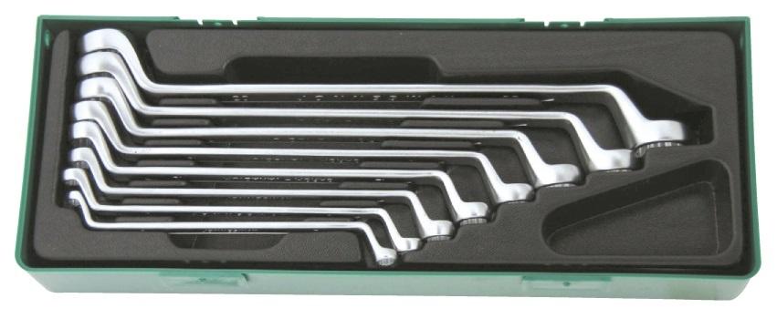 Sada očkových vyhnutých klíčů, 6x7 - 20x22 mm, 8 kusů v kazetě - JONNESWAY W23108SP