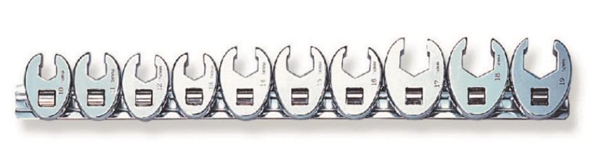 """Sada plochých otevřených klíčů, 3/8"""", 10 - 19 mm, 10 kusů - JONNESWAY R19H310S"""