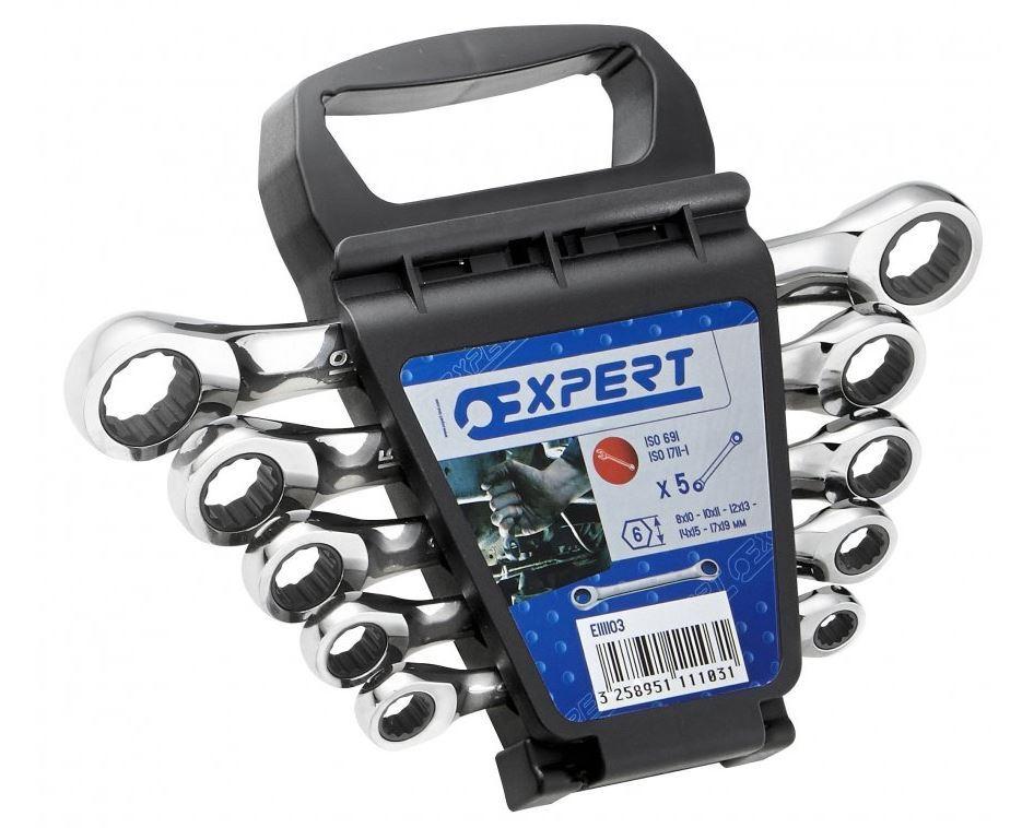 5dílná sada ráčnových očkových klíčů Tona Expert E111103T