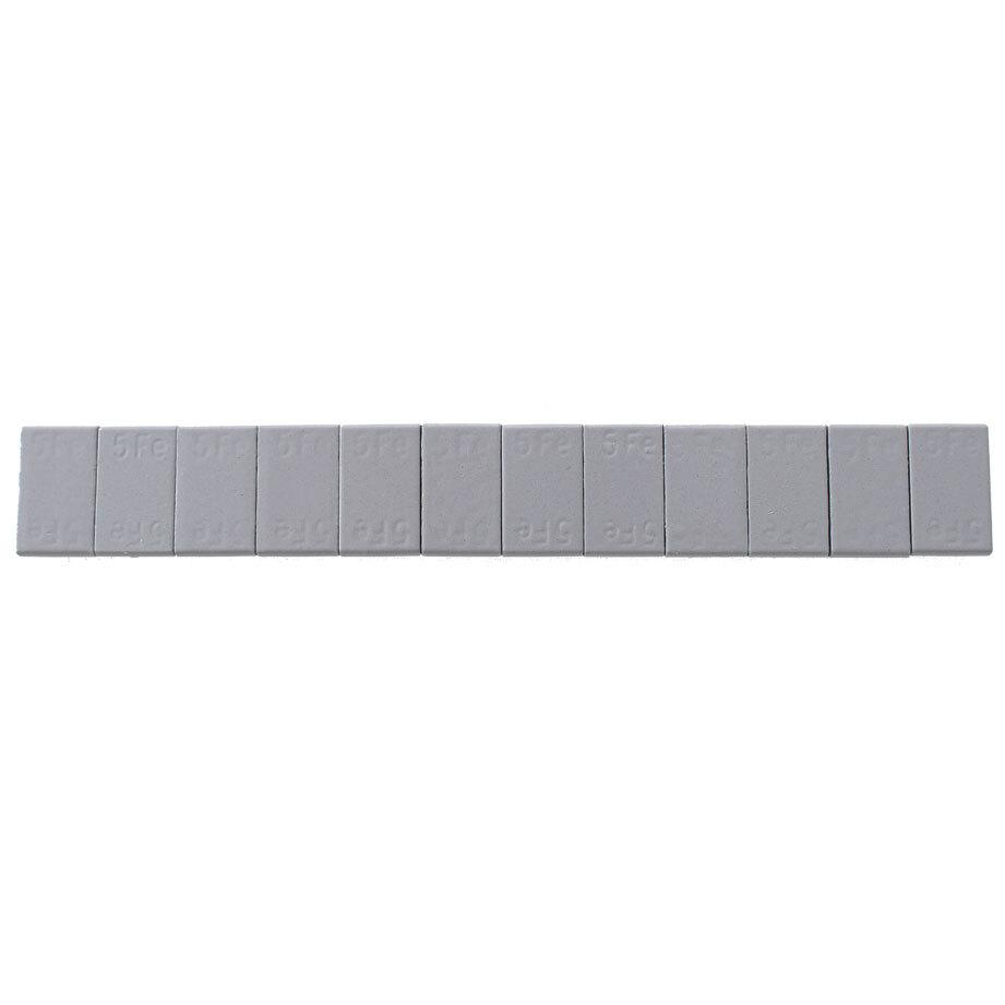 Samolepící závaží 12x5g, pásek 60g, šedý lak - balení po 100ks