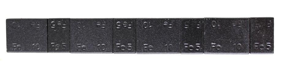 Samolepící závaží 4x5 g a 4x10 g, černý lak - 1 kus - Ferdus 13.89