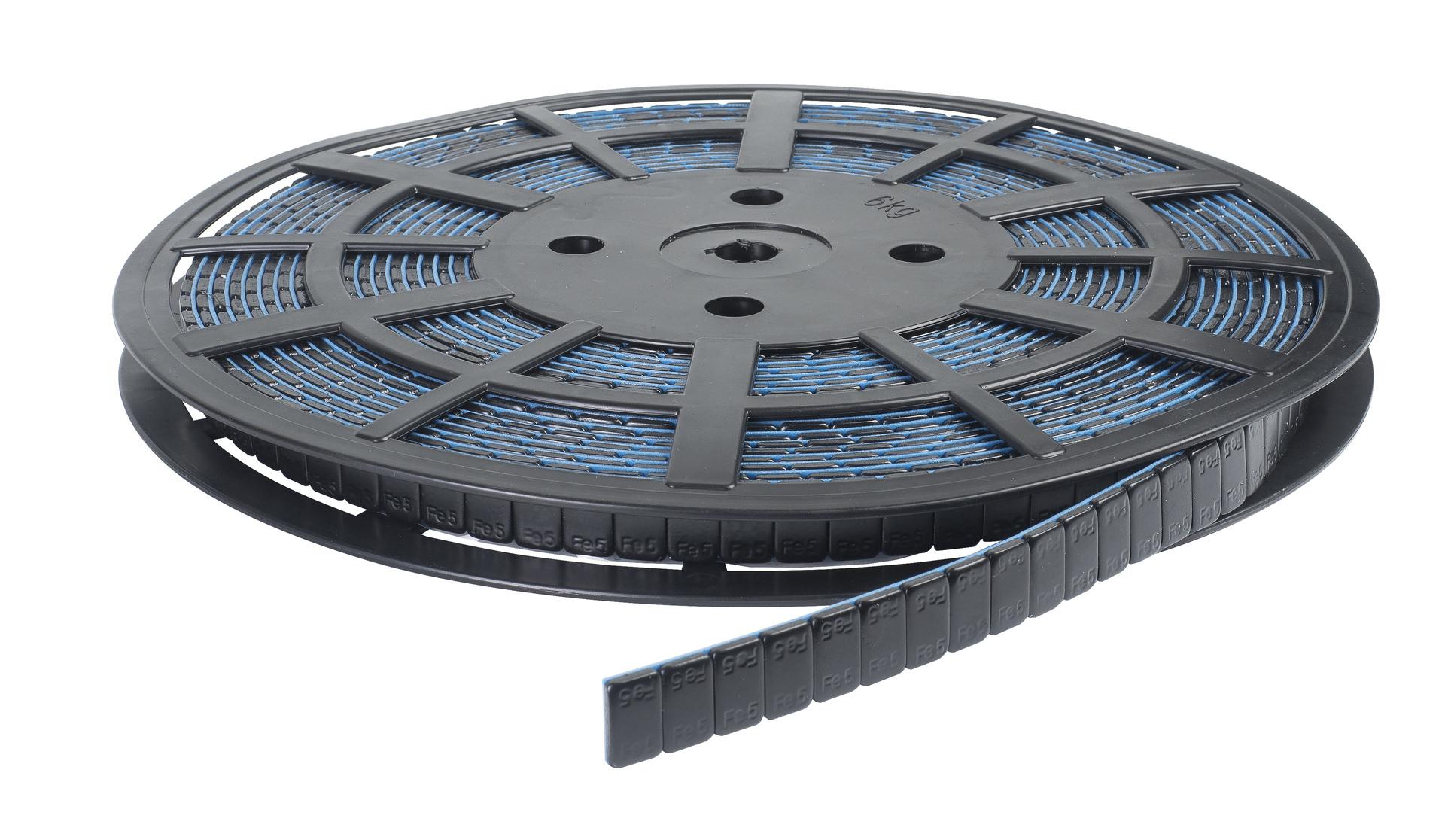 Závaží samolepicí černé, kotouč 1200 ks x 5 g, nezanechávající stopy