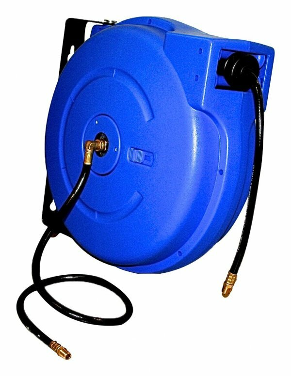 """Samonavíjecí buben s hadicí na stlačený vzduch a vodu, 15 m, připojení 3/8"""" - ASTA"""