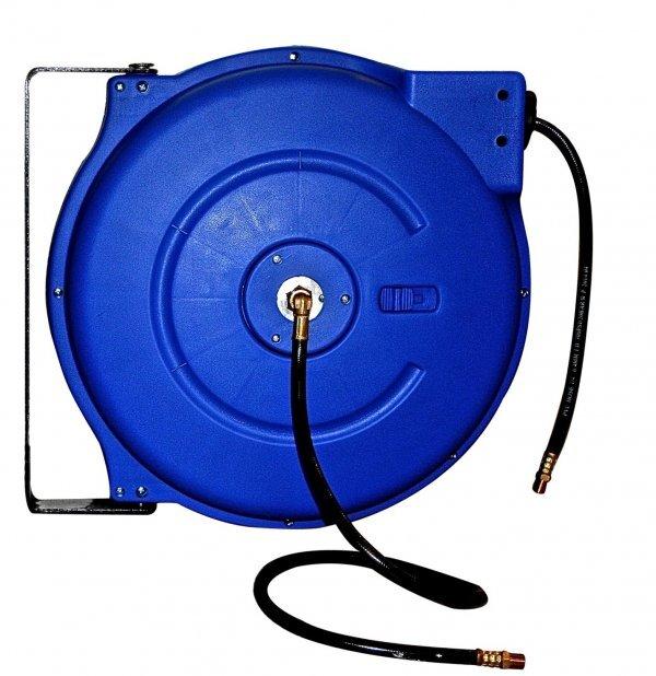 """Samonavíjecí buben s hadicí na stlačený vzduch a vodu, 15 m, připojení 1/2"""" - ASTA"""