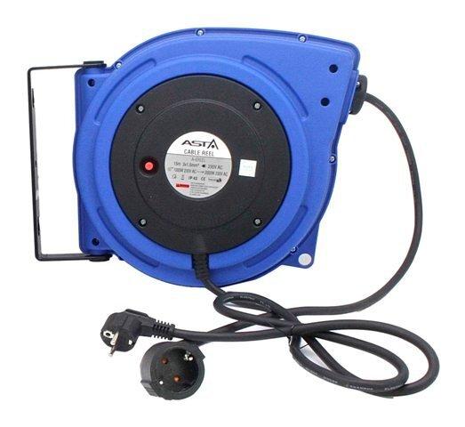 Samonavíjecí prodlužovací kabel, buben, 230V, délka 15 metrů - ASTA