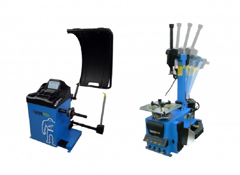 Set 1 PROFI: Automatická zouvačka TC-02 a vyvažovačka TW-02 3D - Golemtech