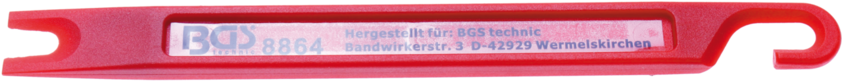 Škrabka - šábr pro čištění brzdového potrubí, 160 x 14 x 6 mm - BGS 8864