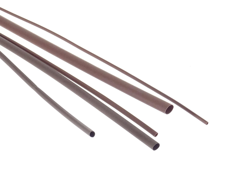 Bužírky - hadičky smršťovací, různé rozměry, délka 1 m, polyetylen - hnědá