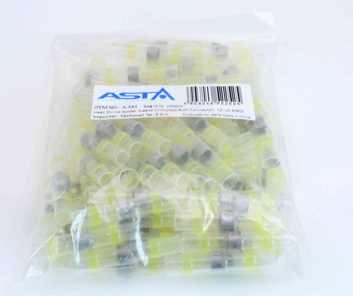 Smršťovací hadičky s cínem, 6.0 x 40 mm, 12-10 AWG, balení 100 ks - ASTA