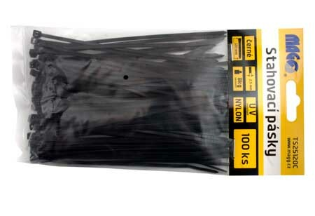 Stahovací pásky 2,5x120mm černé /100ks