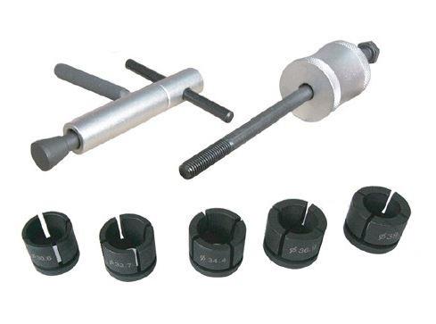Stahovák na brzdové pístky 31 - 39.5 mm, s reverzním kladivem, sada 7 dílů