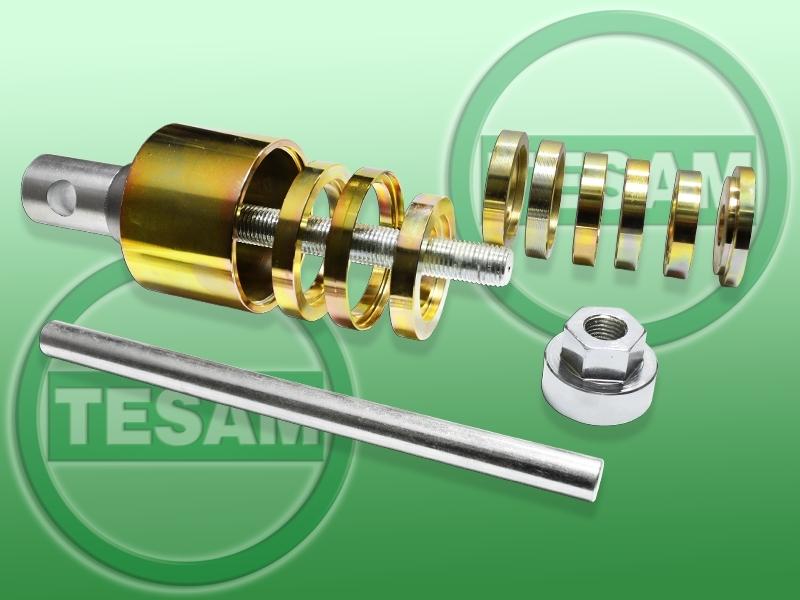 Stahovák na dvouřadá ložiska náboje kola, k hydraulickým sadám, univerzální - TESAM TS001