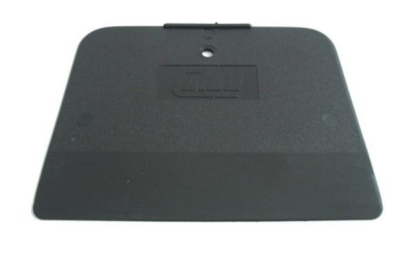 Stěrka na tmel lakýrnická, 120 x 90 mm, na oblé povrchy, plast, černá, 5 ks - COLAD