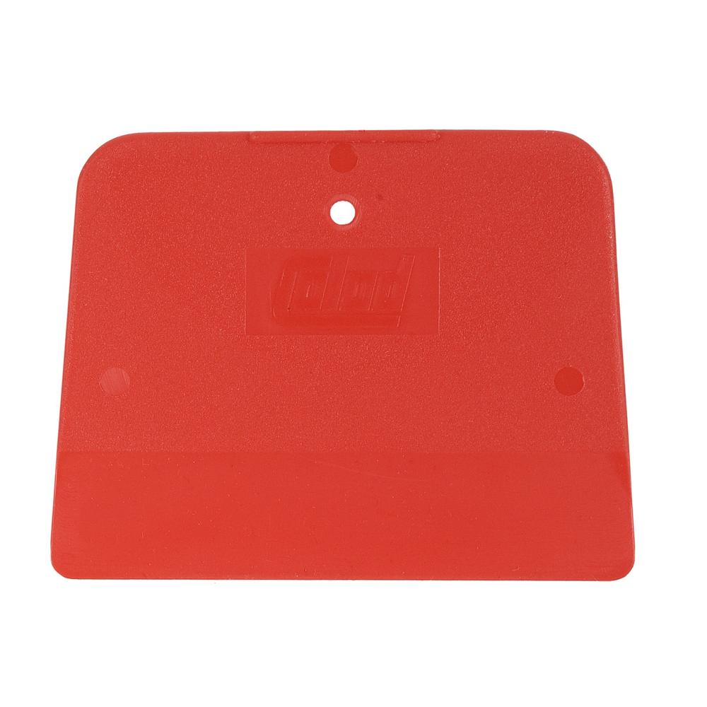 Stěrka na tmel lakýrnická, 120 x 90 mm, na rovné povrchy, plast, červená, 5 ks - COLAD