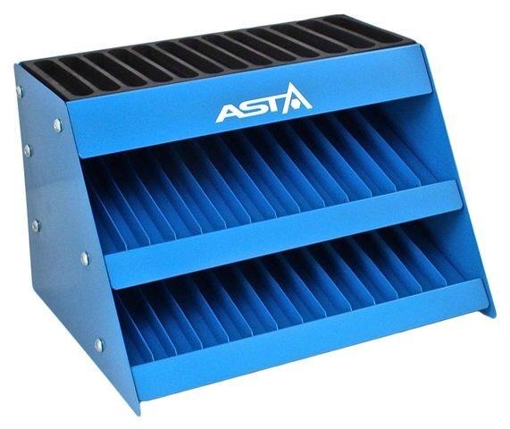 """Úložný box - stojan na hlavice a ořechy 1/4"""" - 3/4"""", 3 patra, kovový - ASTA"""