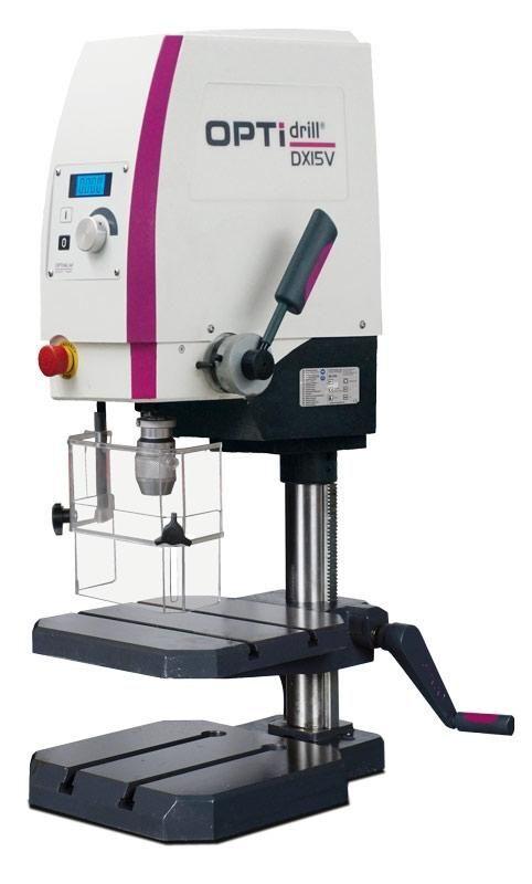Sloupová, stojanová vrtačka stolní OPTIdrill DX 15 V, 1-13 mm, 850 W