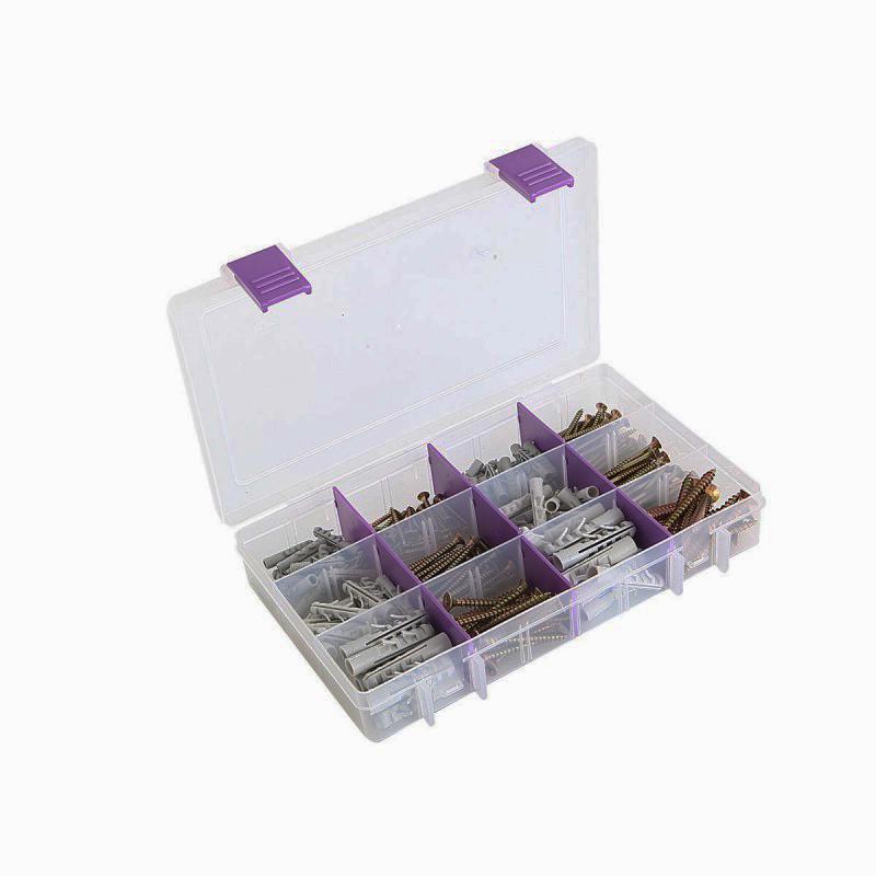 Super box - vruty a hmoždinky, průměr 5, 6 a 8 mm, sada 210 kusů