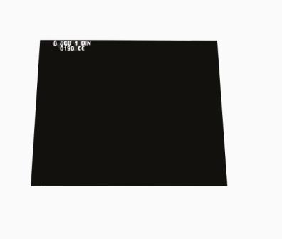 Svářecí sklo 110 x 90 mm, stupeň tmavosti č. 10