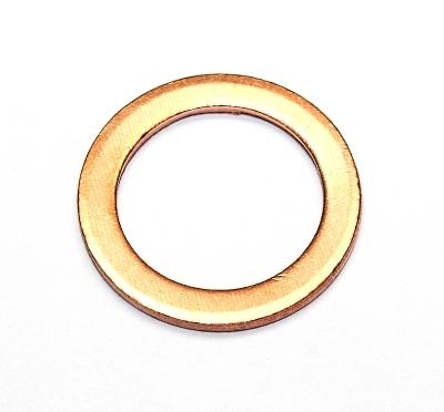 Těsnicí kroužek měděný, průměr 14/20 mm, tloušťka 1,5 mm, pro Audi, Ford, Škoda, VW