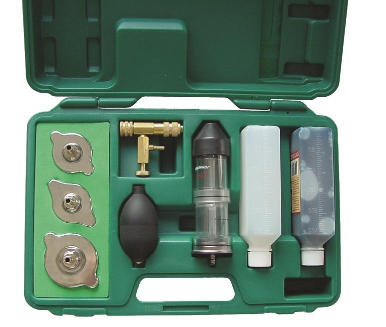Tester těsnosti a úniku CO2 pod těsněním hlavy motoru s adaptéry - JONNESWAY AE300168A