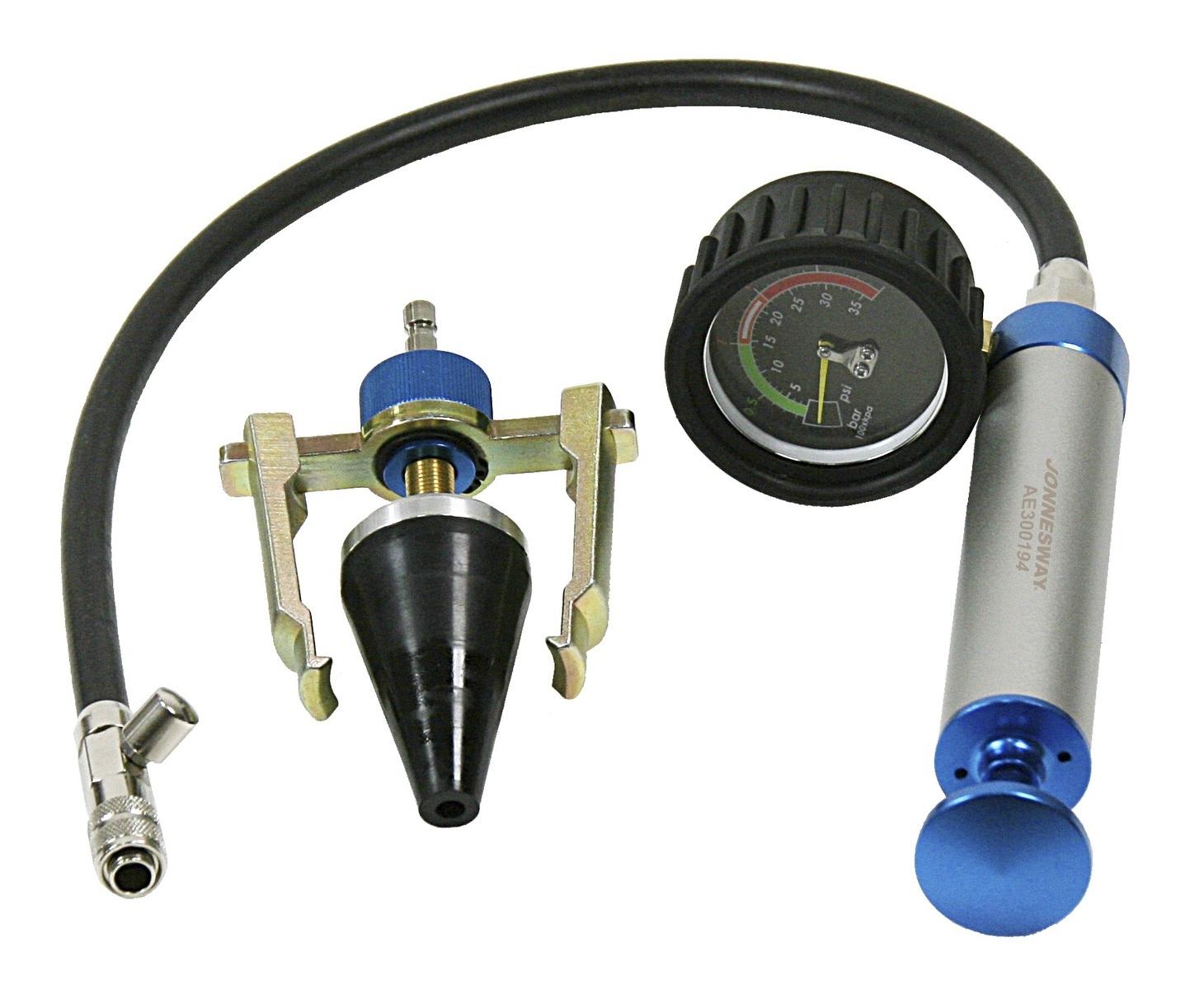 Tester těsnosti chladicího okruhu motoru, univerzální - JONNESWAY AE300194