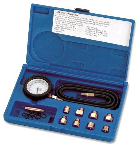 Tester tlaku motorového oleje, 0 - 7 bar, univerzální, s adaptéry - ASTA