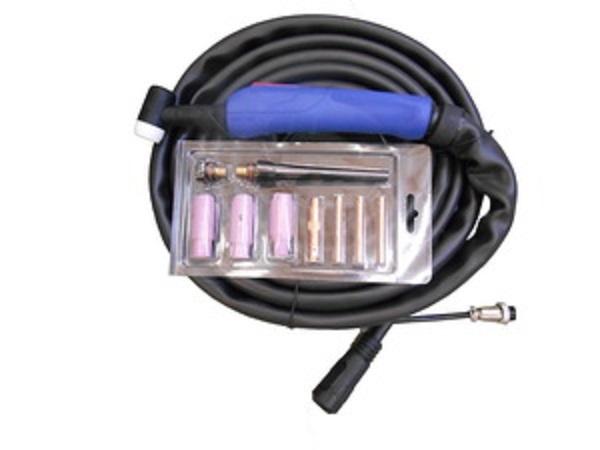 TIG hořák WP-17 - 4m / 10-25, s příslušenstvím, na kombinovanou svářečku a řezačku SV160-T