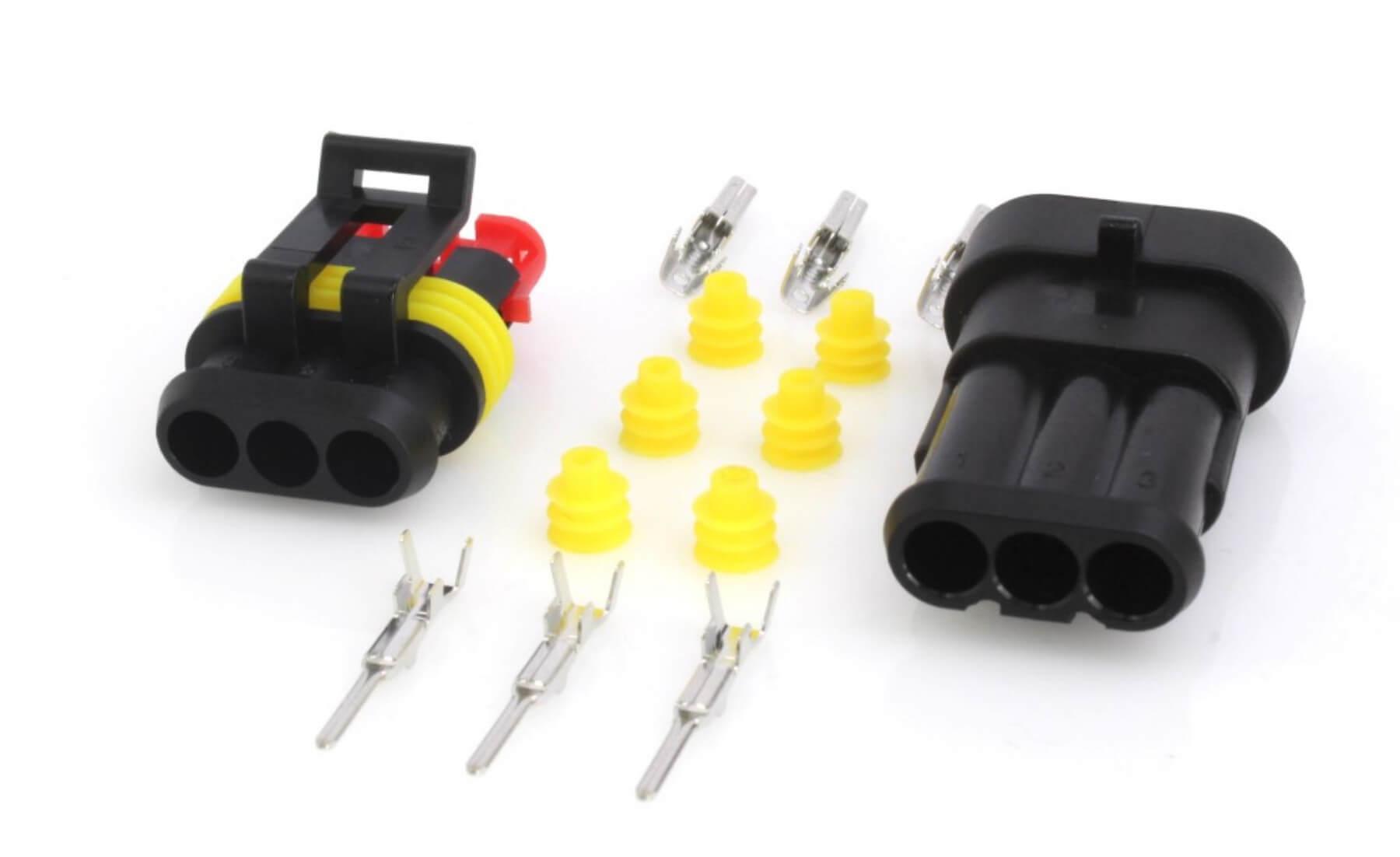 Elektrický konektor vodotěsný, tzv. štekr, tříkontaktový, 3P/1,5 - ASTA