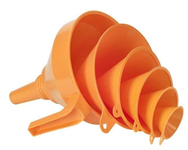 Trychtýře - nálevky, 50 - 160 mm, sada 6 kusů - PRESSOL 02 372 043