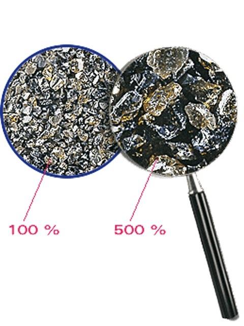 Tryskací prostředek, struska, 0,25 - 0,5 mm, 25 kg, pro tryskání