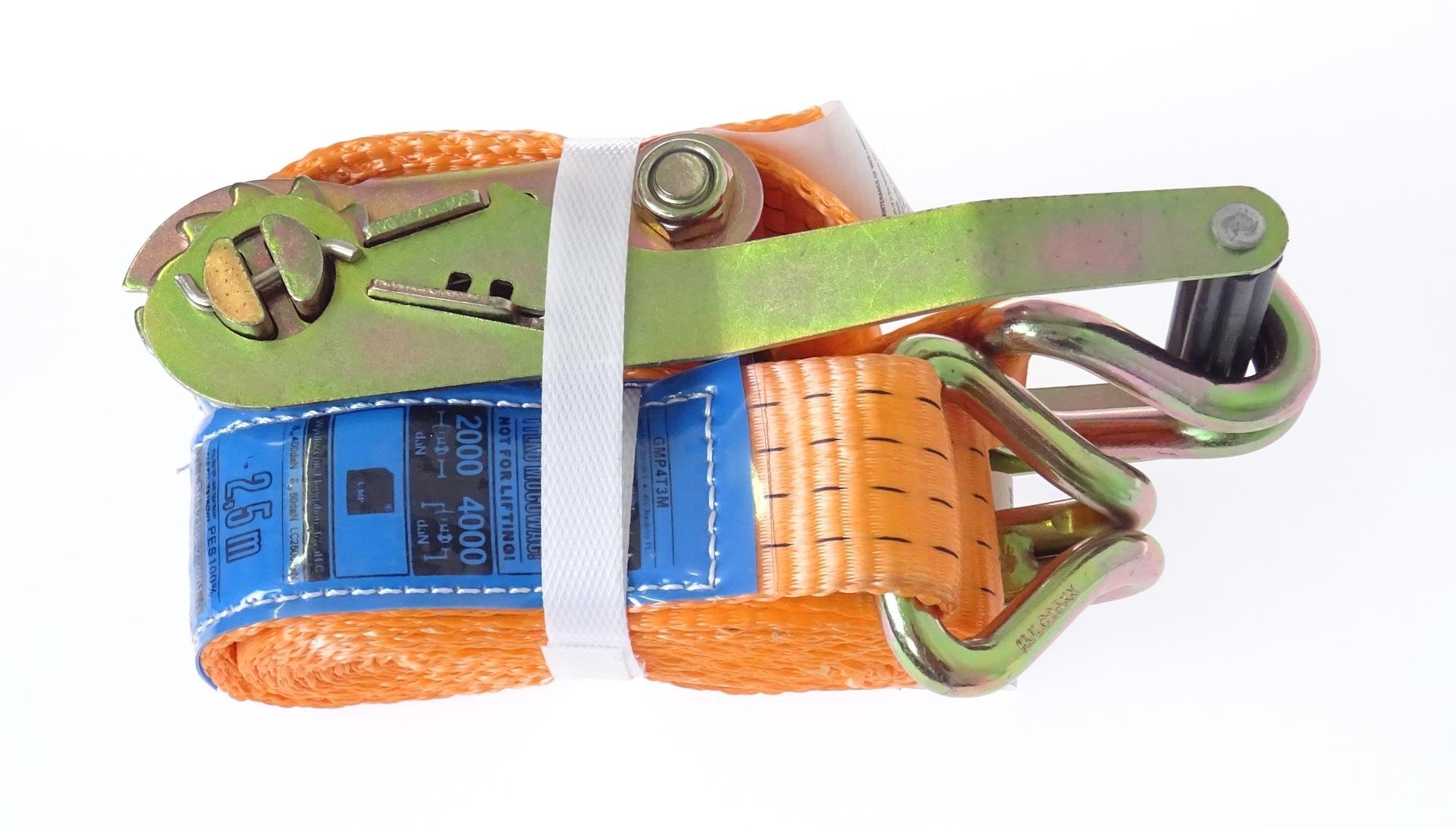 Upínací pás s ráčnou a háky 4T/3m/50mm
