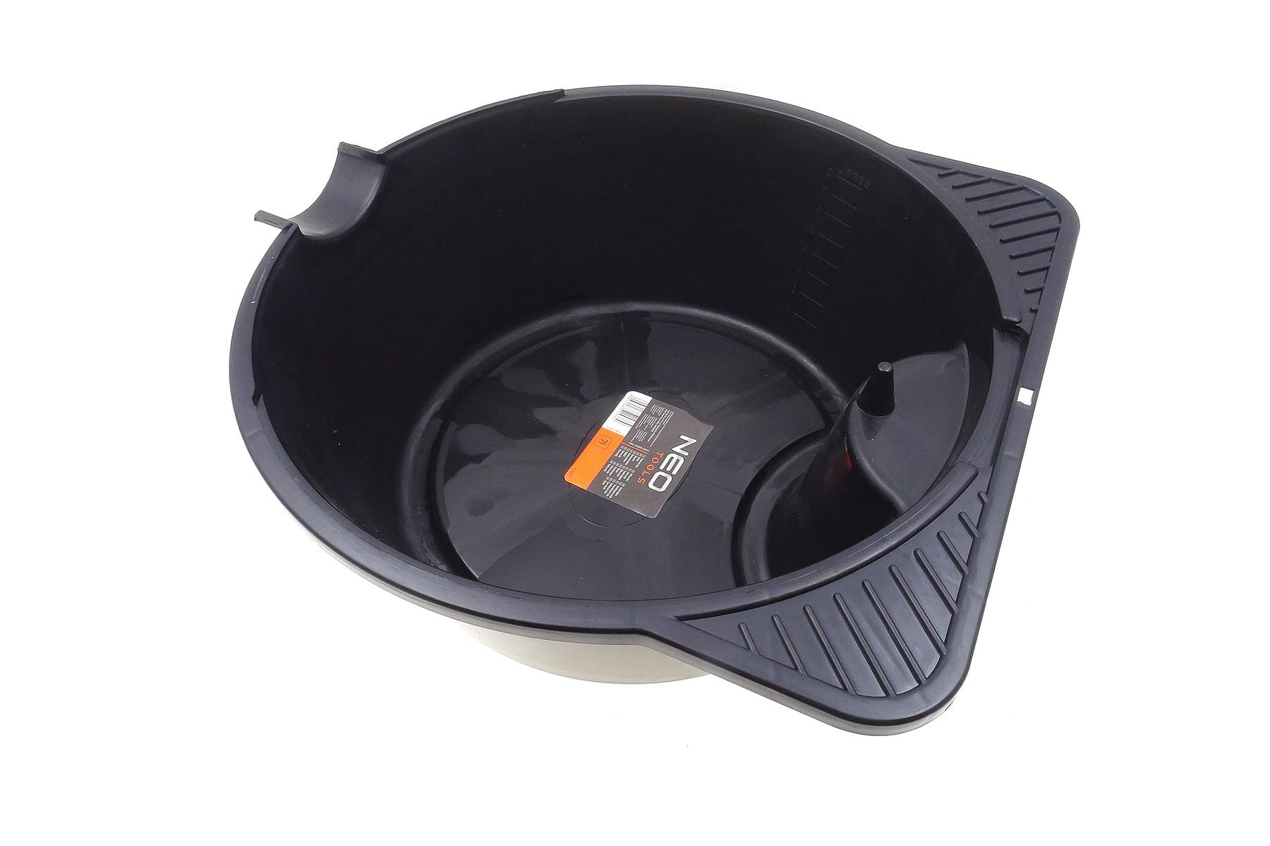 Záchytná vana na olej a provozní kapaliny 7 l, plastová, odkapávač na filtr - NEO tools