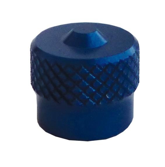 Ventilová čepička hliníková V9.04.3B, modrá - Ferdus 111.90