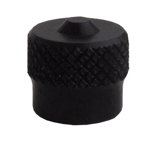 Ventilová čepička hliníková V9.04.3BL, černá - Ferdus 111.88
