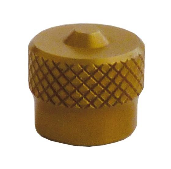 Ventilová čepička hliníková V9.04.3G, zlatá - Ferdus 111.89