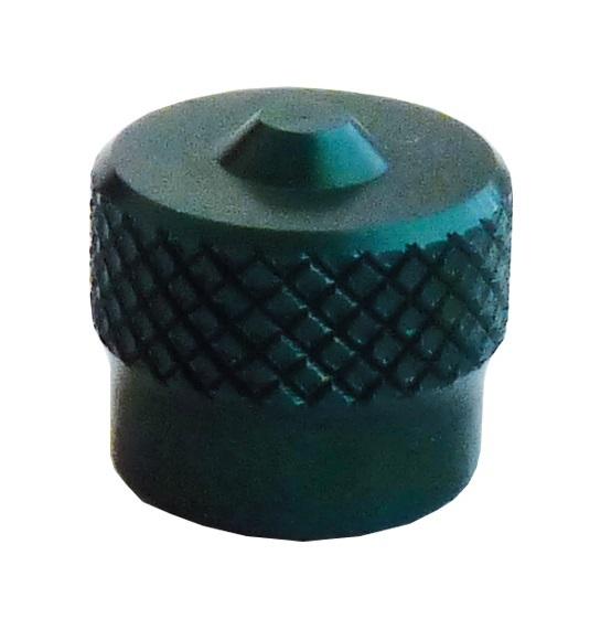 Ventilová čepička hliníková V9.04.3GR, zelená - Ferdus 111.91