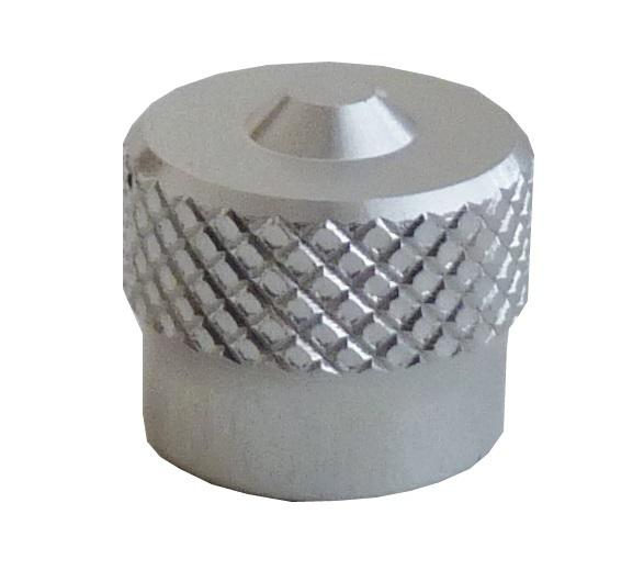 Ventilová čepička hliníková V9.04.3S, stříbrná - Ferdus 111.86