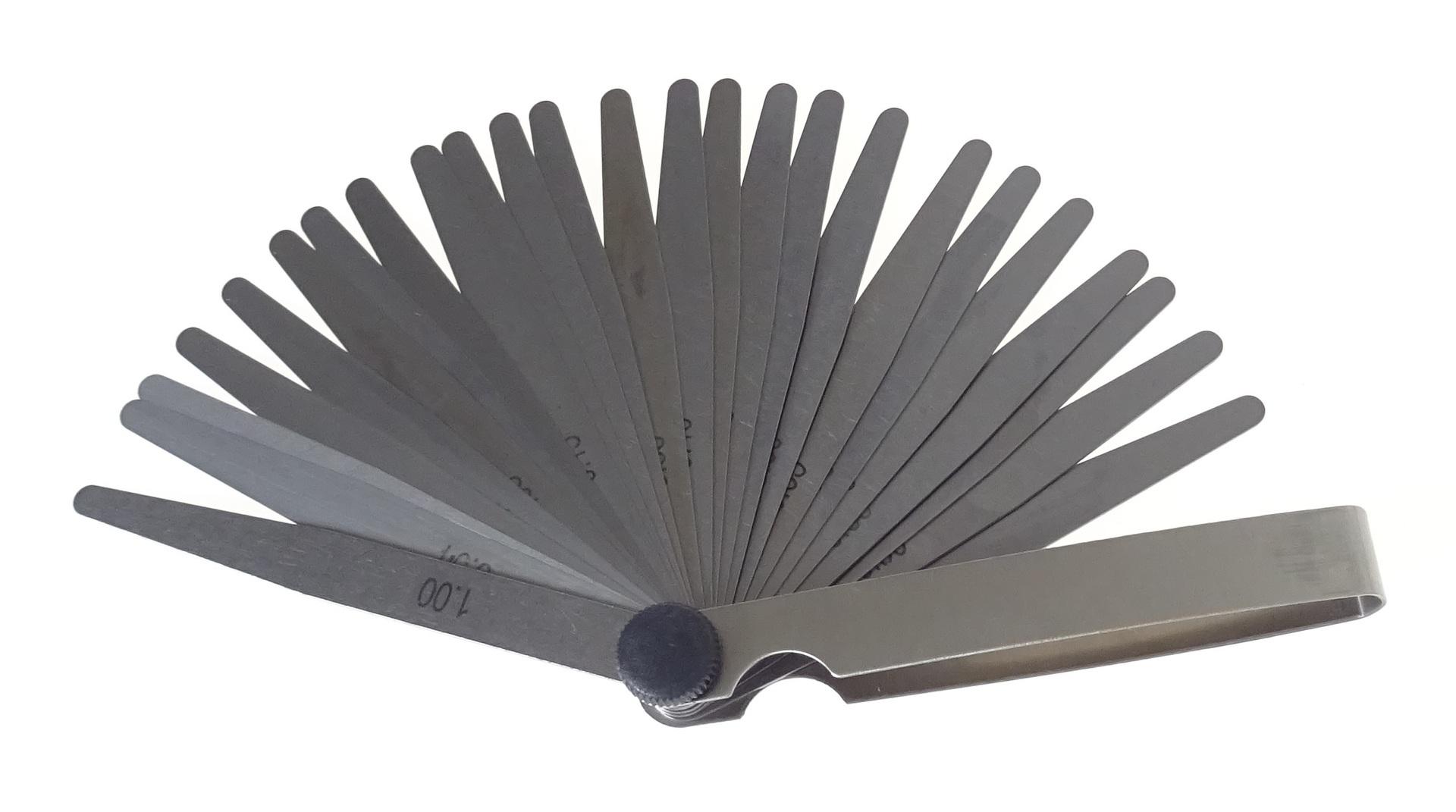 Ventilové (spárové) měrky, 25 kusů - QUATROS QS15516