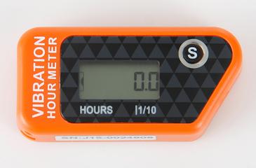 Vibrační měřič motohodin, oranžový
