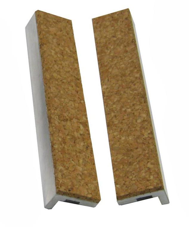 Vložky do čelistí dílenských svěráků korkové, různé rozměry - YORK