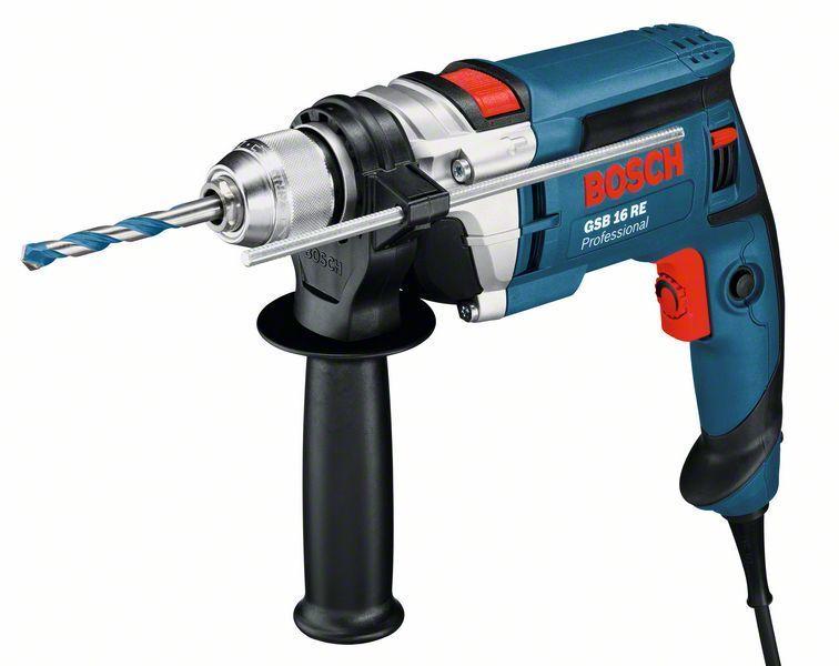 Vrtačka příklepová Bosch GSB 16 RE Professional, plastový kufr -  060114E500