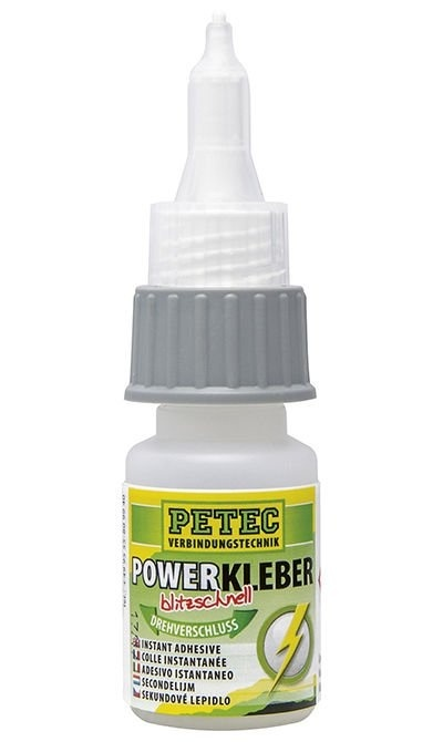 Vteřinové lepidlo na plasty a kovy Power Kleber, 20 g - Petec