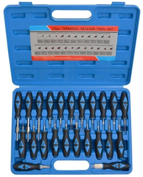 Vypichováky konektorů, sada 23 ks - VT13009