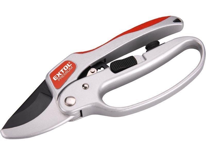 Nůžky zahradnické, 205 mm, rohatkový převod - EXTOL PREMIUM EX8872180