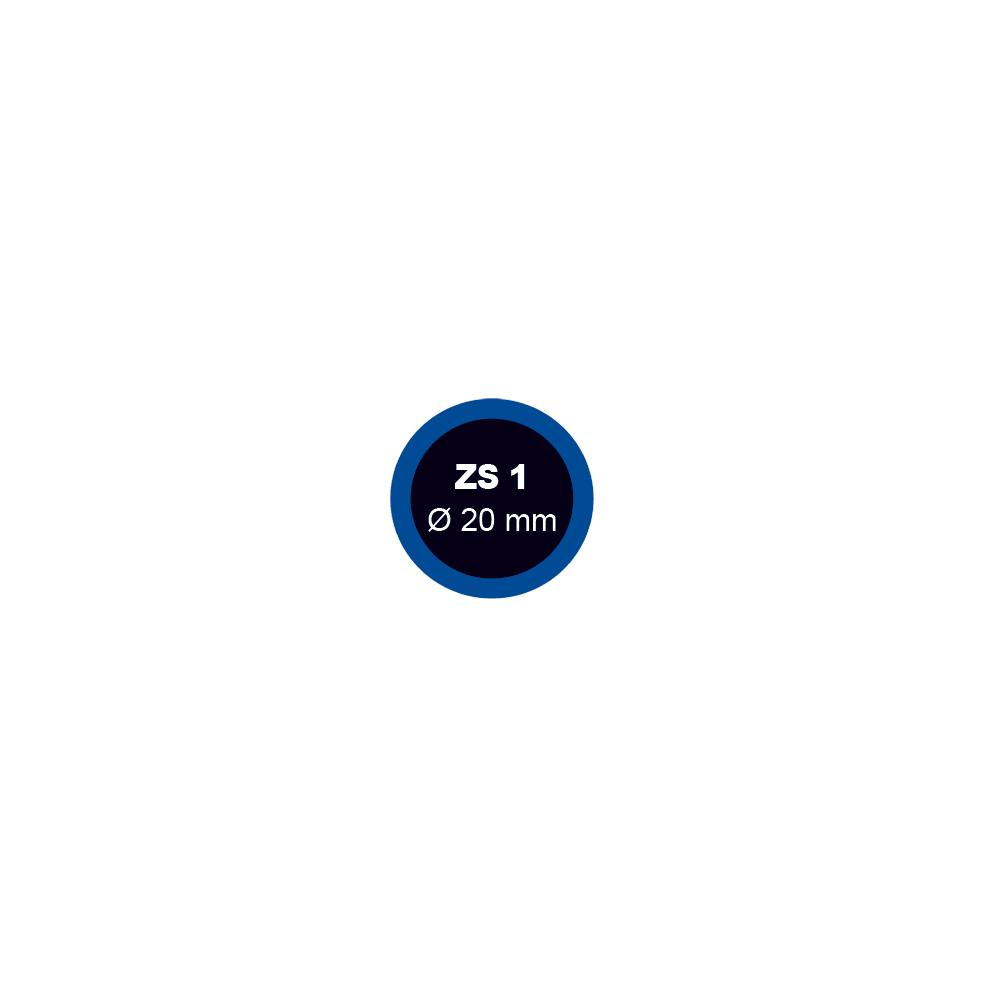 Záplata ZS 1 na opravu duší průměr 20 mm - 1 kus - Ferdus 1.01