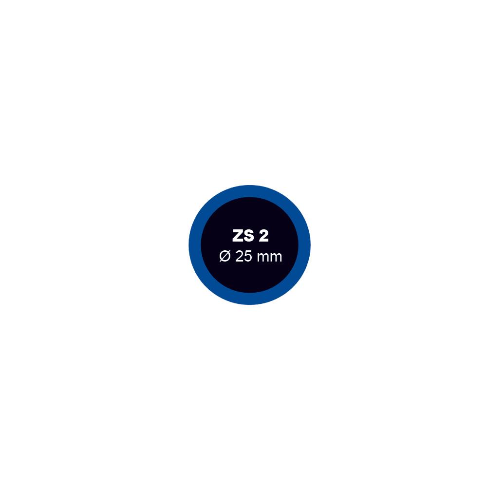 Záplata ZS 2 na opravu duší průměr 25 mm - 1 kus - Ferdus 1.02