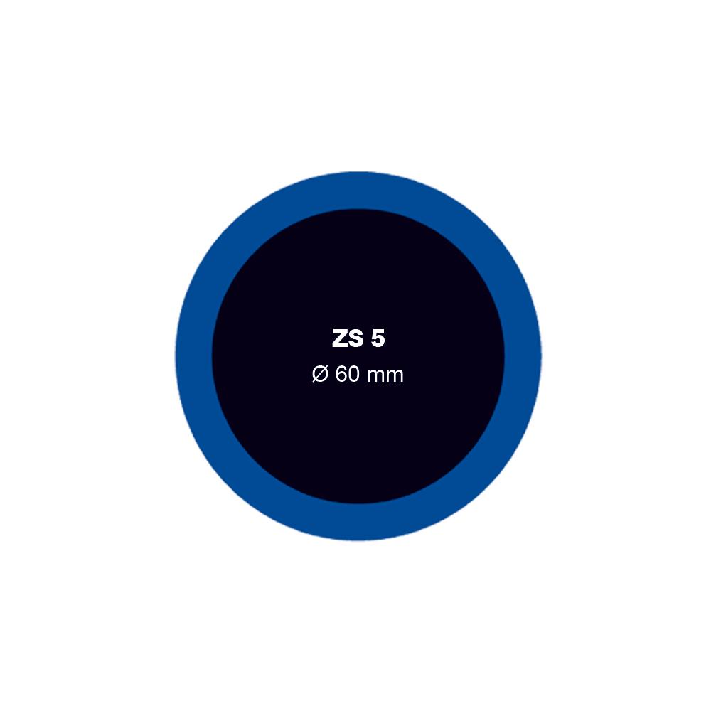 Záplata ZS 5 na opravu duší průměr 60 mm - 1 kus - Ferdus 1.06
